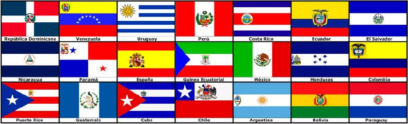 banderas hispanas